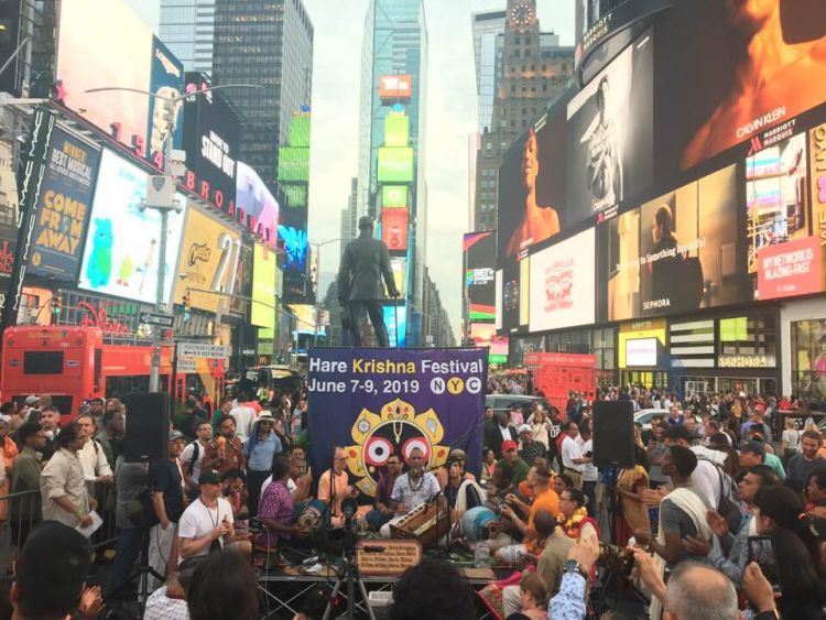 Madhava in Times Square