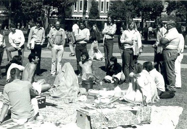 Amarendra Das on the Plaza