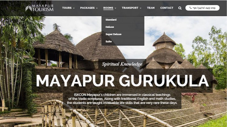 ISKCON News: Mayapur Tourism Launched Improved Website [Article]