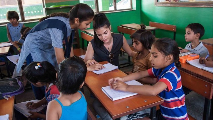 Image result for Marie avgeropoulos school children india